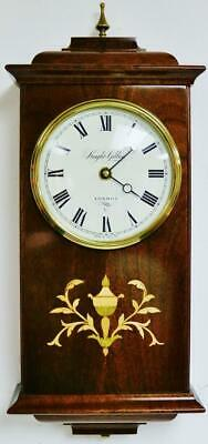Quality Solid Mahogany Drop Dial Wall Clock by Knight & Gibbins London V Heavy