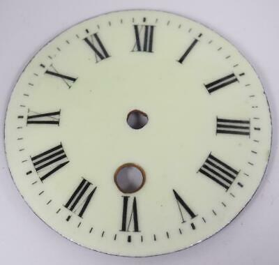 Antique French Cream Enamel Porcelain 8 Day Mantle Clock Dial - Clock Spares