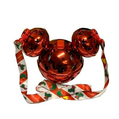 Disneyland Disney Parks 2019 Christmas Mickey Jingle Bell Ornament LU Sipper
