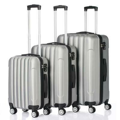 """20"""" 24"""" 28"""" Set of 3 Luggage Set Travel Bag ABS Trolley Spinner Suitcase w/Lock"""