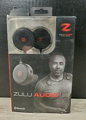 Black Zulu Audio Portable Wearable Bluetooth Personal Workout Speaker System