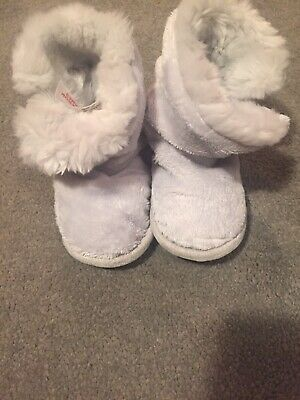 Little White Compan Booties/slippers 18-24 Months Boy/girl