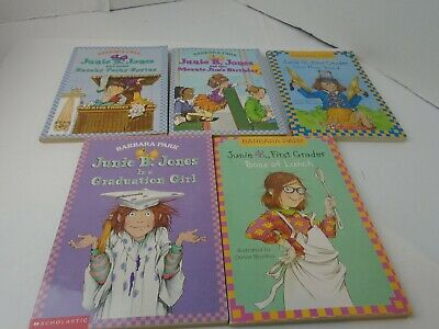 5 PACK BUNDLE/LOT OF JUNIE B JONES BOOKS~Homeschool Library Children's Chapter