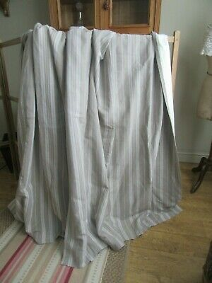 Sale Stunning antique,vintage ticking curtains,loads fabric