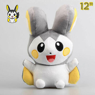 30cm Emolga Pokemon Emonga Plush Toy Stuffed Animal Doll 12'' Teddy Collect Gift