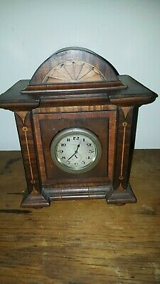 Antique Old Vintage Mantel Clock With Old Car Clock Insert
