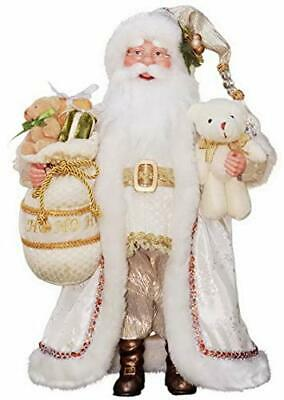 """Windy Hill Collection 16/"""" Inch Standing Ho Ho Ho African American Black Santa Cl"""