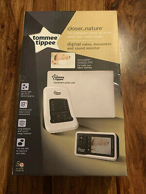 New Tommee Tippee Digital Video Monitor With Movement Sensor Pad