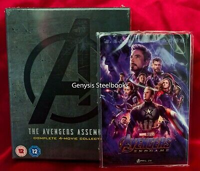 AVENGERS 1-4 [Blu-ray Box Set] The Complete 4-Movie + Marvel End Game Art Cards