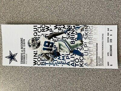 5 Dallas Cowboys vs Washington Redskins tickets November 29,2019