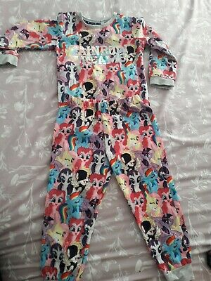 Age 7-8 Years Tesco Girl's My Little Pony Pjs /& Matching Dress Gown BNWT