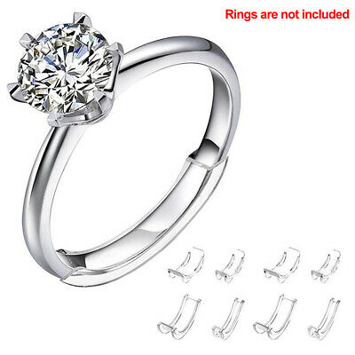 10Pcs Adjuster Invisible Ring Size for Spacer Ring Guard Loose Ring Size Reducer