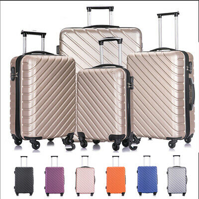 3/4/5 Piece ABS Spinner Hardshell Luggage Set Carry On Suitcase W/ Covers&Hanger