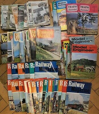70 X Mixed Assorted Railway/train/ model engineer  magazines  as in photos 1960s