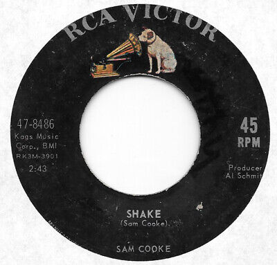 SAM COOKE Shake/A Change Is Gonna Come on RCA northern soul 45 HEAR