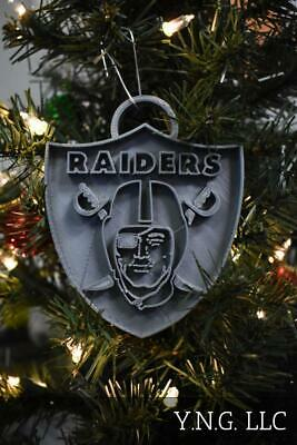 Oakland Raiders Nfl Football Logo Hanging Ornament Holiday Christmas Usa Pr2073
