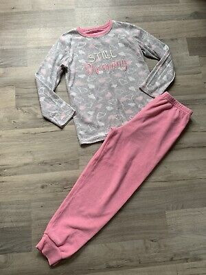 Girls Fleece Pyjamas Age 10-11 (9-10) From Primark
