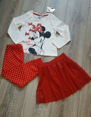 Disney Minnie Mouse 3 Piece Pyjamas Set Age 3-4 Years