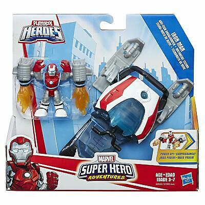 New MARVEL Avengers PLAYSKOOL Super Hero Adventures IRON MAN Snow Mobile Jumper
