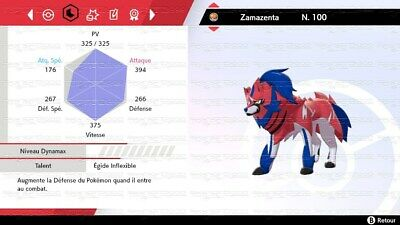 ⚔️Pokemon épée bouclier Exclusive zamazenta⚔️6iv very rare