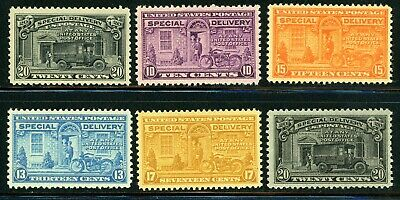 US Scott #E14 E15 E16 E17 E18 E19 Special Delivery  Set of 6 MNH
