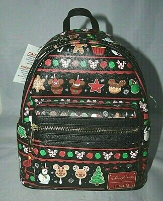 Disney Parks Loungefly Holiday Food Icons Mini Backpack New with the tags
