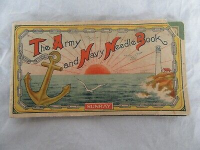 Antique Sunray Army and Navy Needle Book w/ Needles