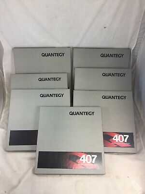 "Lot 7 Quantegy 407 Reel To Reel Tapes 1/4"" New Sealed"