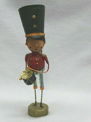 "Lori Mitchell ESC Me and My Drum Drummer Boy Christmas Folk Art Figure 9"" h"