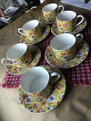 Six Cups & Saucers Chintz Queen's China
