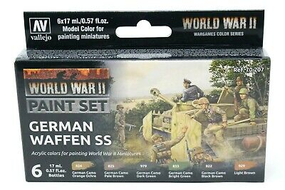 Vallejo WWII German Waffen SS Paint Set New VAL70207