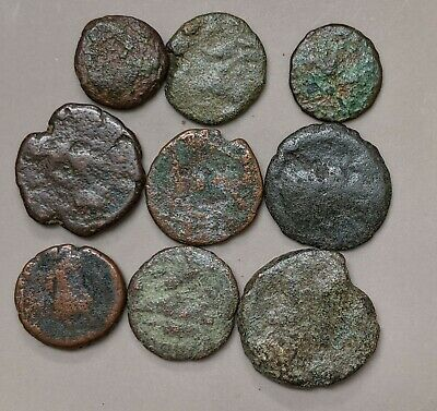 Collection of Nine ANCIENT ROME Roman Coins (#L1889)