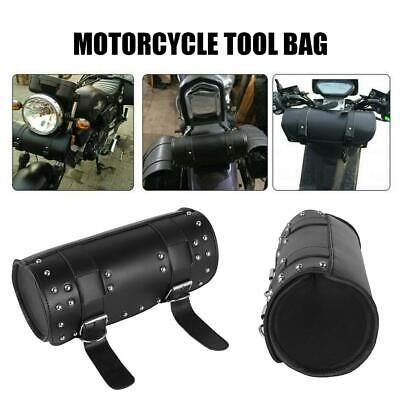 Universal Front Fork Tool Bag Pouch Luggage PU Leather Saddle Bag For Motorcycle