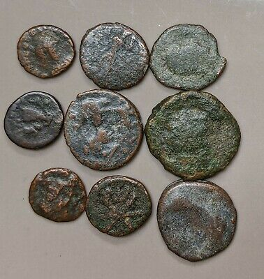Collection of Nine ANCIENT ROME Roman Coins (#L1890)