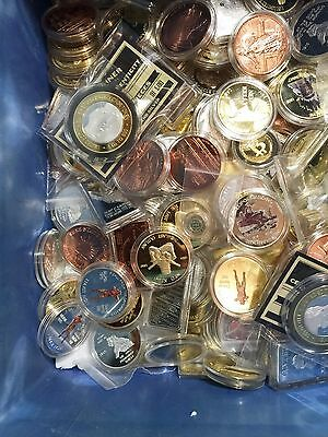 Mystery Pick of 5 Randomly selected coins or Ingots, gold/silver plated, copper