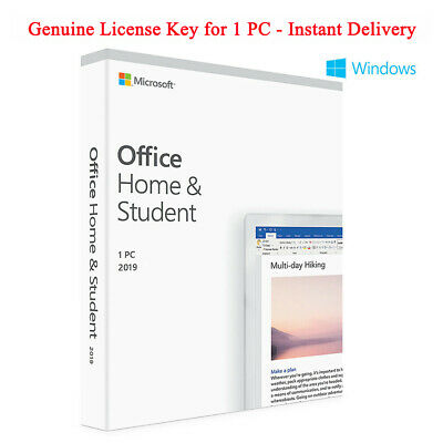 Microsoft Office 2019 Home and Student Genuine License Key For Windows 1 PC