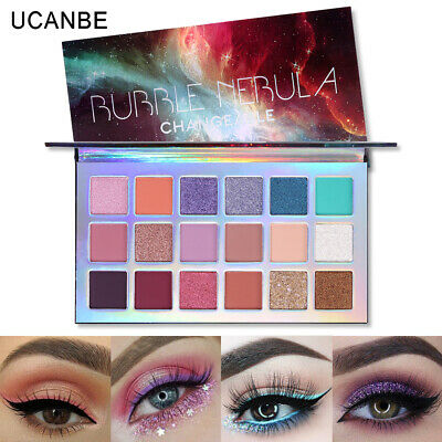 UCANBE 18 Colors Twilight Shimmer Matte Rose Gold Textured Eyeshadow Palette US