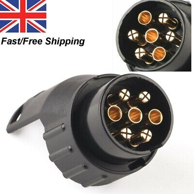 Waterproof 7 to 13 Pin Plug Trailer Truck Electric Adapter Towbar Towing Socket