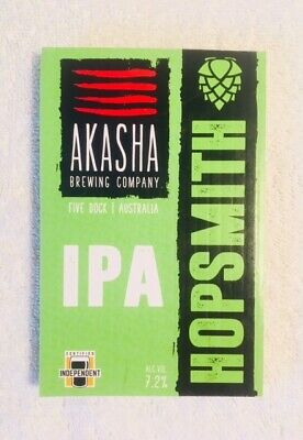 Tap Beer Decal Akasha Brewing Hopsmith IPA Plaque Badge Top Mancave Tap
