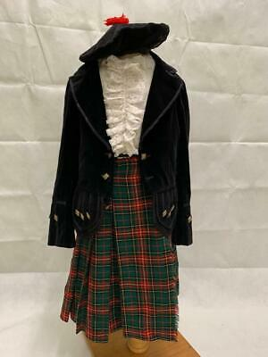 Childs Vintage Traditional Scottish Kilt Black Velvet Jacket And More