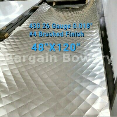 """Food Truck & Restaurant Wall Covering Stainless Steel 26 Ga 48 X 120, 4"""" Quilt"""