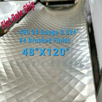 """Food Truck & Restaurant Wall Covering Stainless Steel 26 Ga 4' X 10', 4"""" Quilt"""