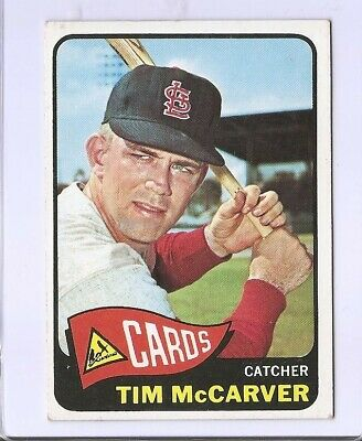 1965 Topps Baseball Card #294 Tim McCarver St. Louis Cardinals VG-EX Condition