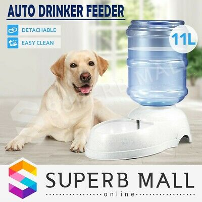 Automatic Drinking Pet Dog Cat Puppy Water Dispenser Feeder Bottle Bowl Dish 11L
