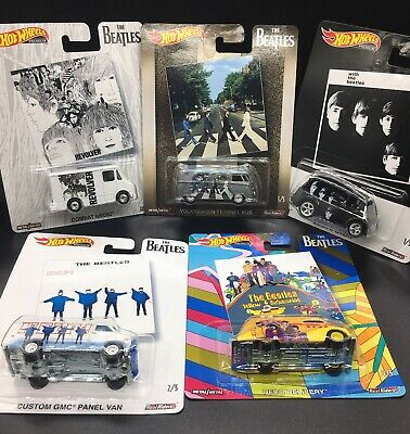 HOT WHEELS 2019 PREMIUM POP CULTURE THE BEATLES SERIES 2 SET OF 5 T1 Panel Bus