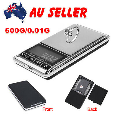 500g x0.01g Pocket Digital Scales Jewelry Balance Gram Herb Gold High Precision