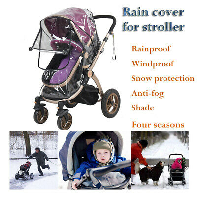 Universal Waterproof Rain Cover Wind Shield Fit Most Stroller Pushchairs Buggys~