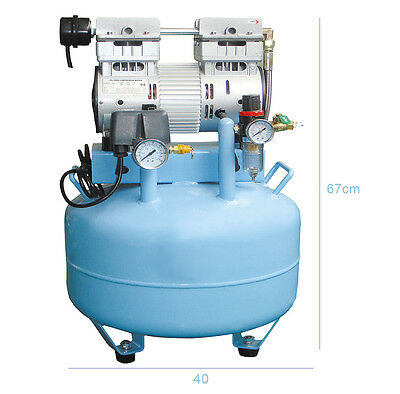 Medical Noiseless Air Compressor Oil Free Oilless for 2 units Dental Chairs Hot