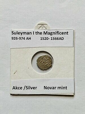 Islamic Silver Coin Suleyman I  the Magnificent