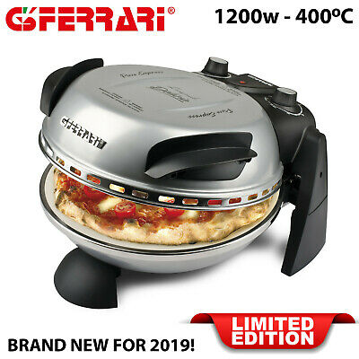 G3 Ferrari Electric Pizza Oven 1200w up to 400°C Refractory Cooking Stone Silver